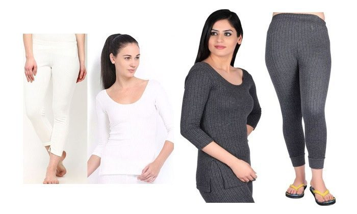 From Rs.525 for an Oswal Set of Top & Lower Thermals for Women. Choose from 10 Options
