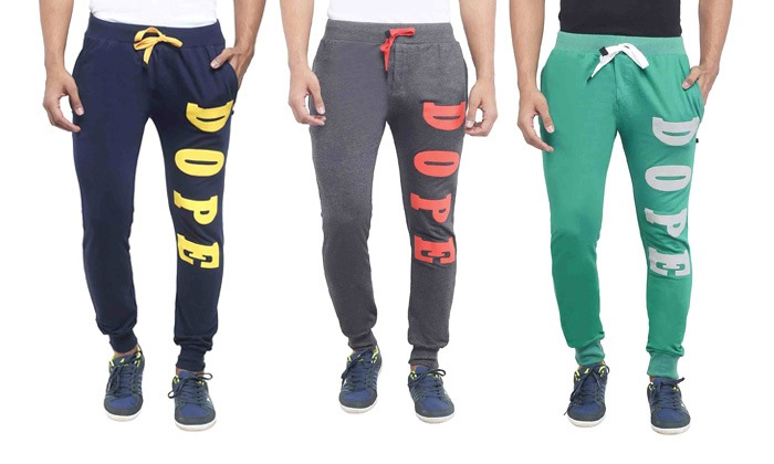 Rs.499 for Jogger Pants for Men. Choose from 7 Options and up to 3 Sizes