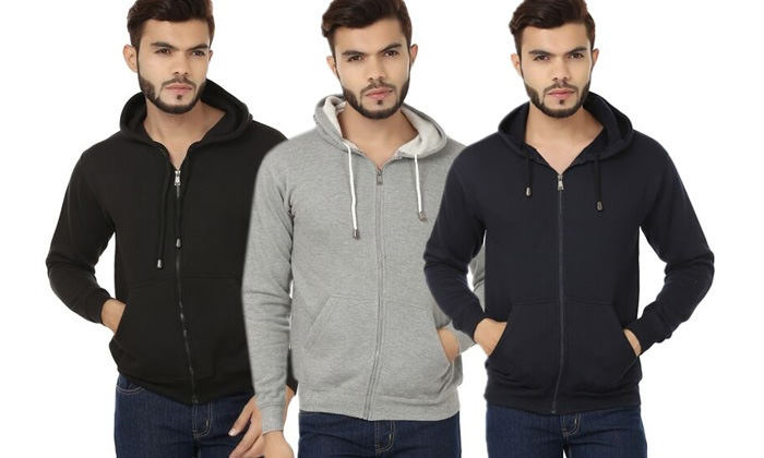 Rs.649 for a Weardo Zipped Sweatshirt for Men. Choose from 3 Colors and 4 Sizes